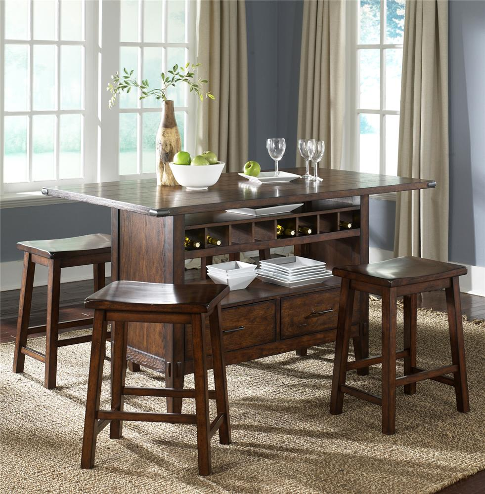 center island pub table by liberty furniture wolf and gardiner