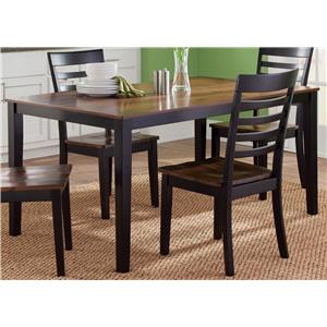 Rectangular Leg Table in Two-Tone Finish