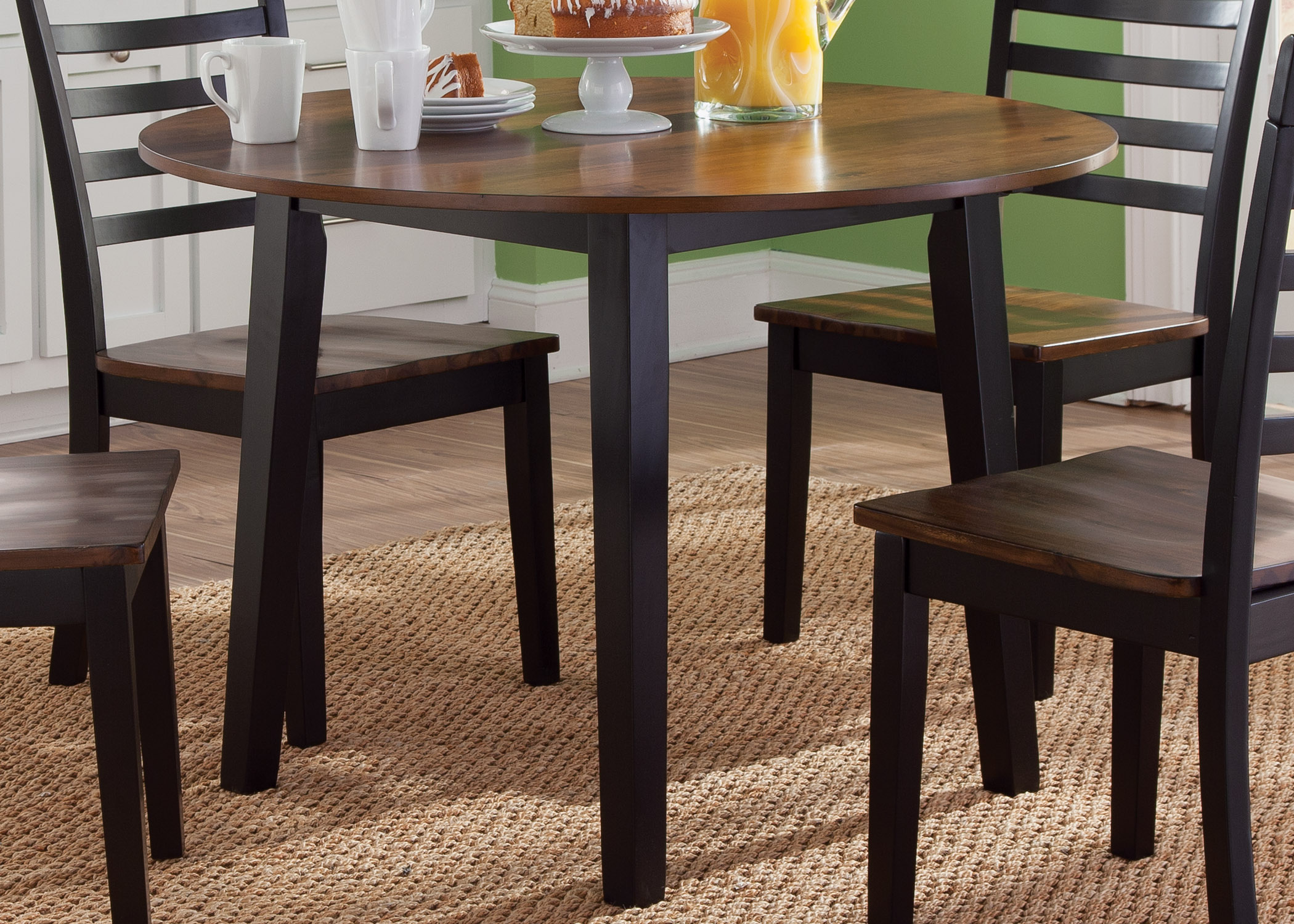 Round Fix Top Table in Two Tone Finish by Liberty Furniture