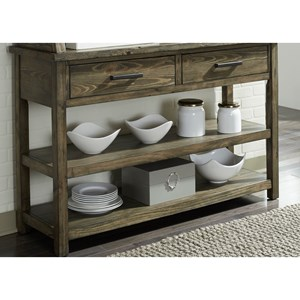 Contemporary Dining Server with Open Shelves