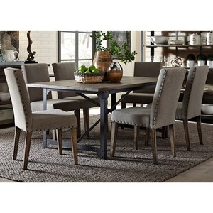 Table and Upholstered Chair Set