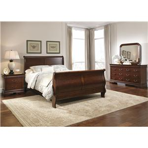 Vendor 5349 Carriage Court Twin Sleigh Bed, Dresser & Mirror