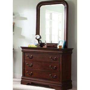 3 Drawer Youth Dresser and Beveled Edge Mirror