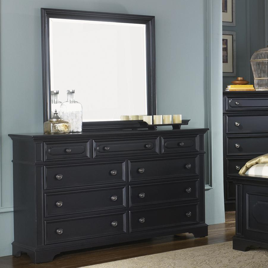 nine drawer dresser and mirror set by liberty furniture 88753