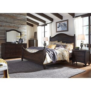 Queen Poster Bed Bedroom Group with Nightstand