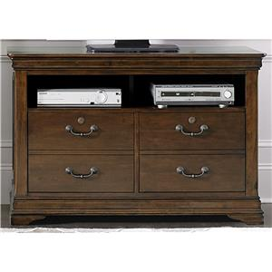 Traditional Media File Cabinet with Locking Drawers