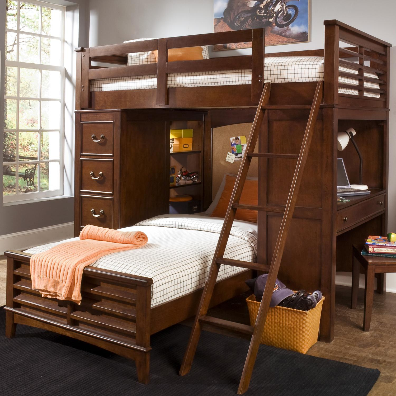 frame elegant dresser steps wood the dressers size beds features dark drawers stained desk in loft bunk bed and this built fresh full with