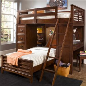 Liberty Furniture Chelsea Square Youth Twin Loft Bed Unit
