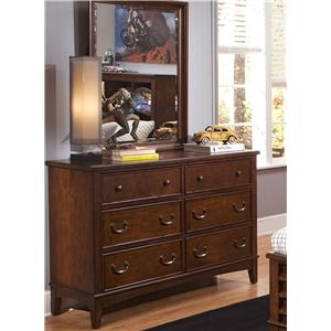 Liberty Furniture Chelsea Square Youth Dresser & Mirror Combination