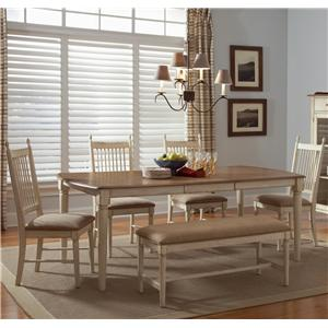 Liberty Furniture Cottage Cove 6-Piece Dining Set