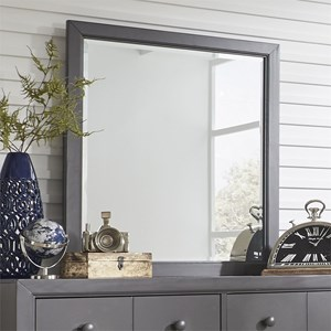 Cottage Style Mirror with Beveled Glass