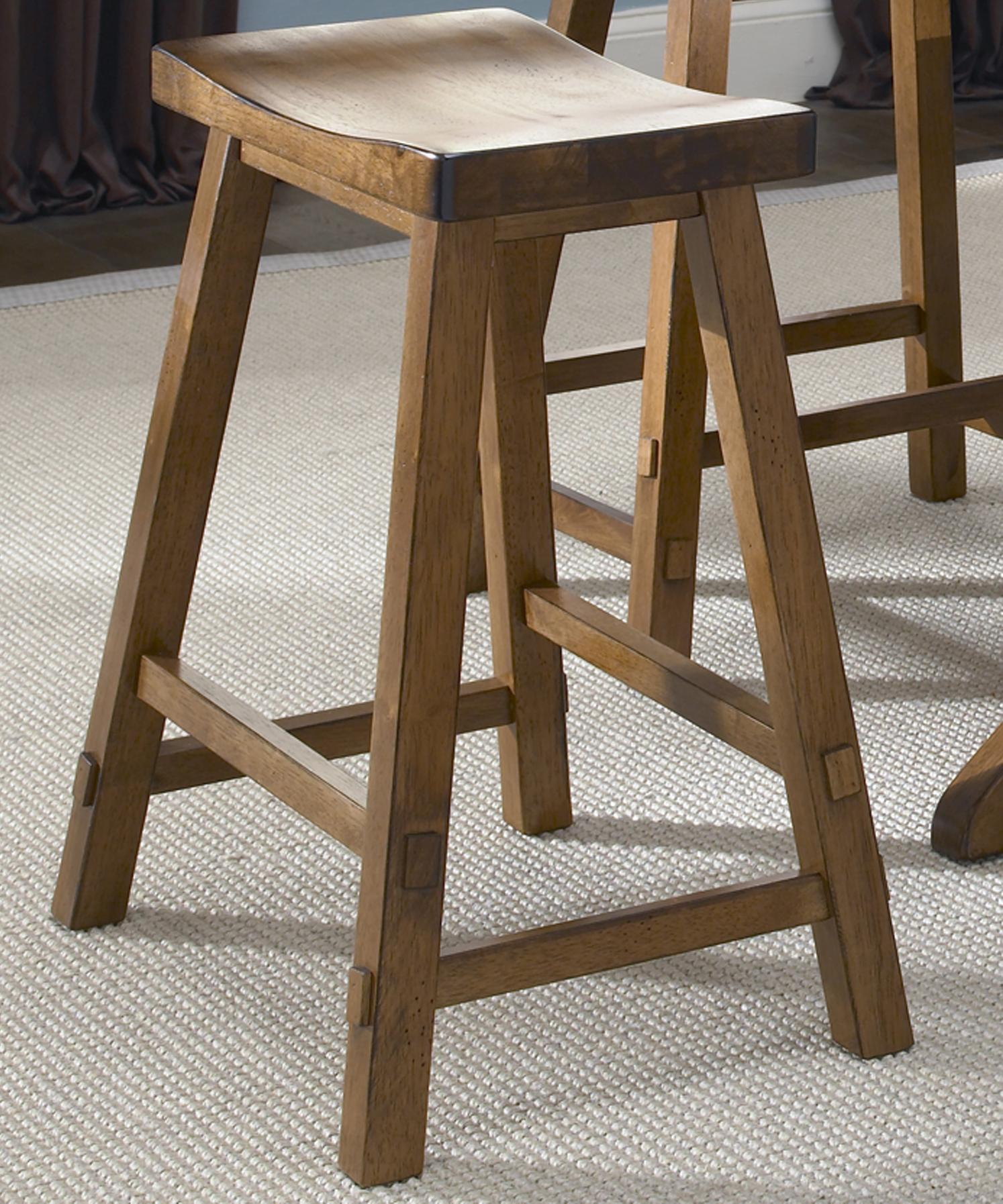 Sawhorse Bar Stool by Liberty Furniture
