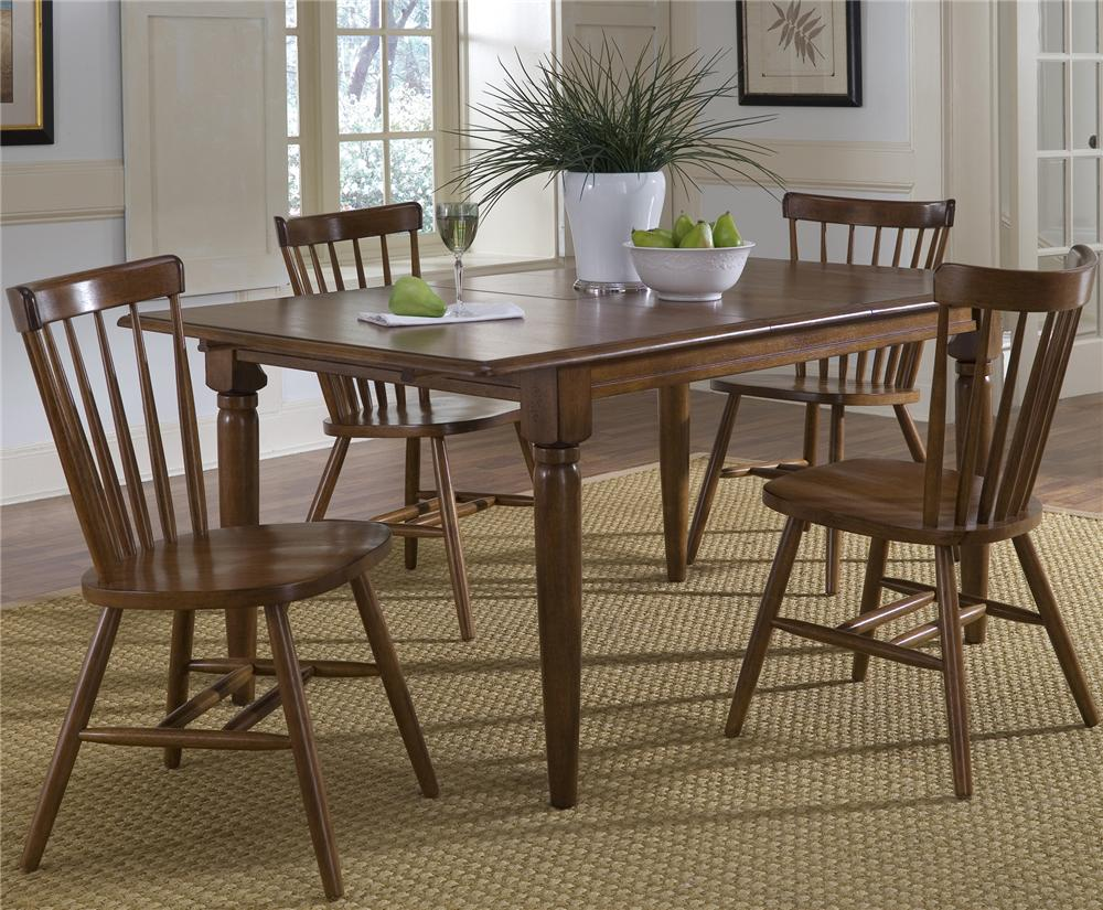 5 Piece Butterfly Leaf Table & Copenhage Side Chair By Liberty Furniture