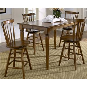 Liberty Furniture Creations II 5 Piece Gathering Table and Bar Stools