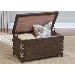 Coastal Storage Trunk with Rope Accents
