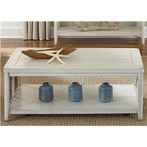 Coastal Cocktail Table with Rope Accents