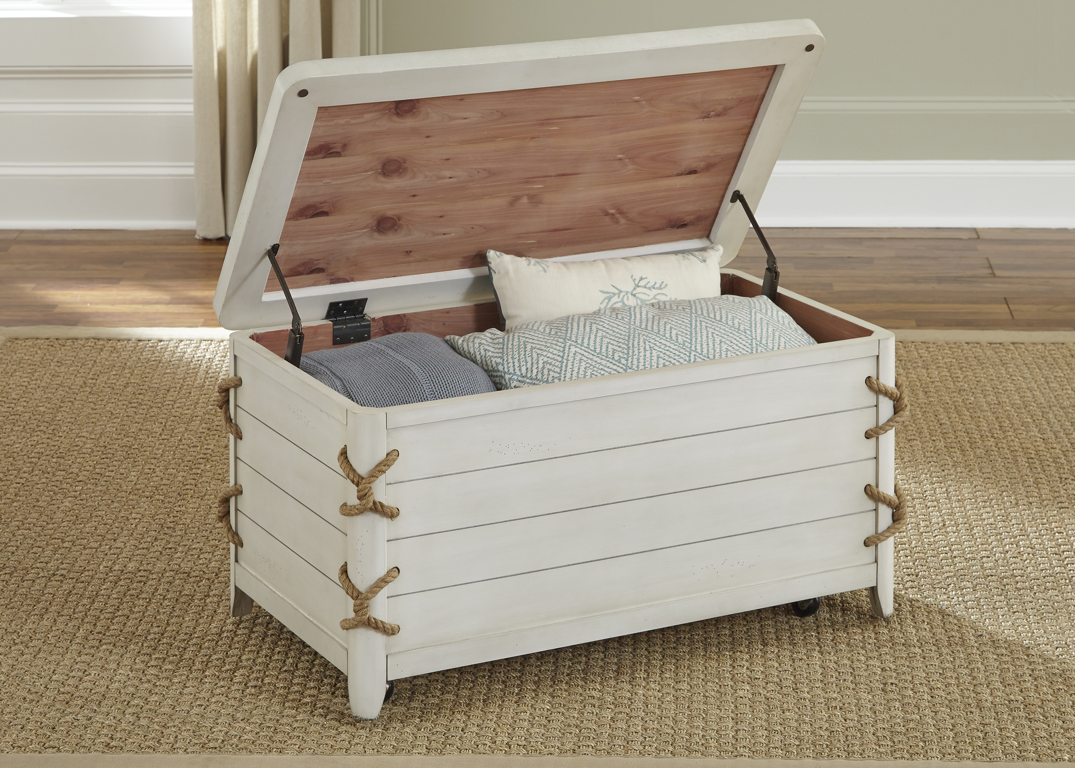 Coastal Storage Trunk with Rope Accents by Liberty Furniture