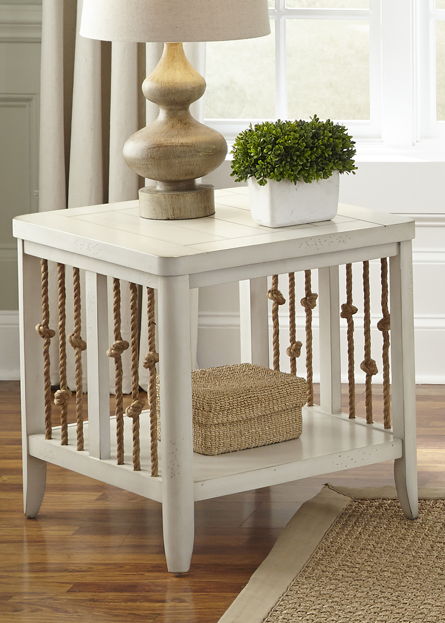 Coastal End Table with Rope Accents by Liberty Furniture