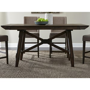 Contemporary Gathering Table with Two 12