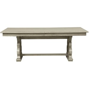 Traditional Trestle Table with Removable 18
