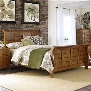 King Sleigh Bed With Paneling