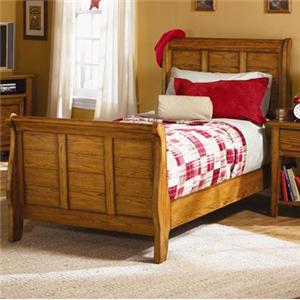 Vendor 5349 Grandpa's Cabin Twin Sleigh Bed