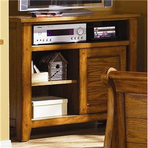 Casual Media Chest with Sliding Door