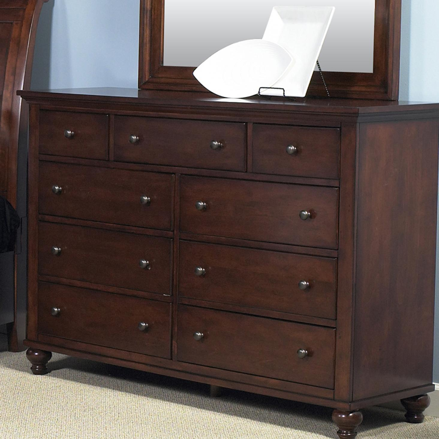 transitional nine drawer dresser by liberty furniture 88753