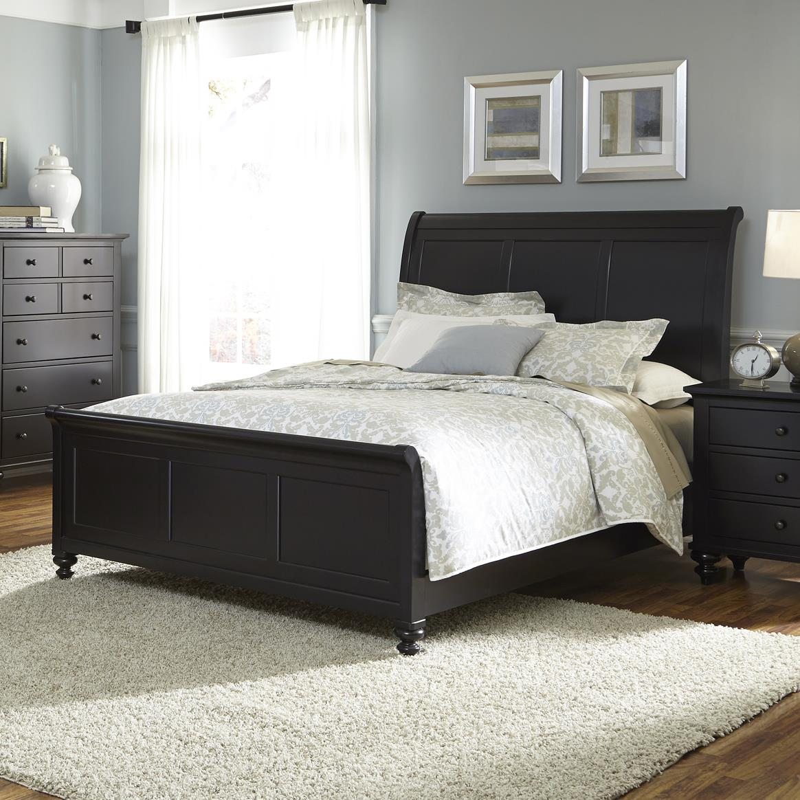 transitional bedroom furniture transitional sleigh bed by liberty furniture wolf 13584