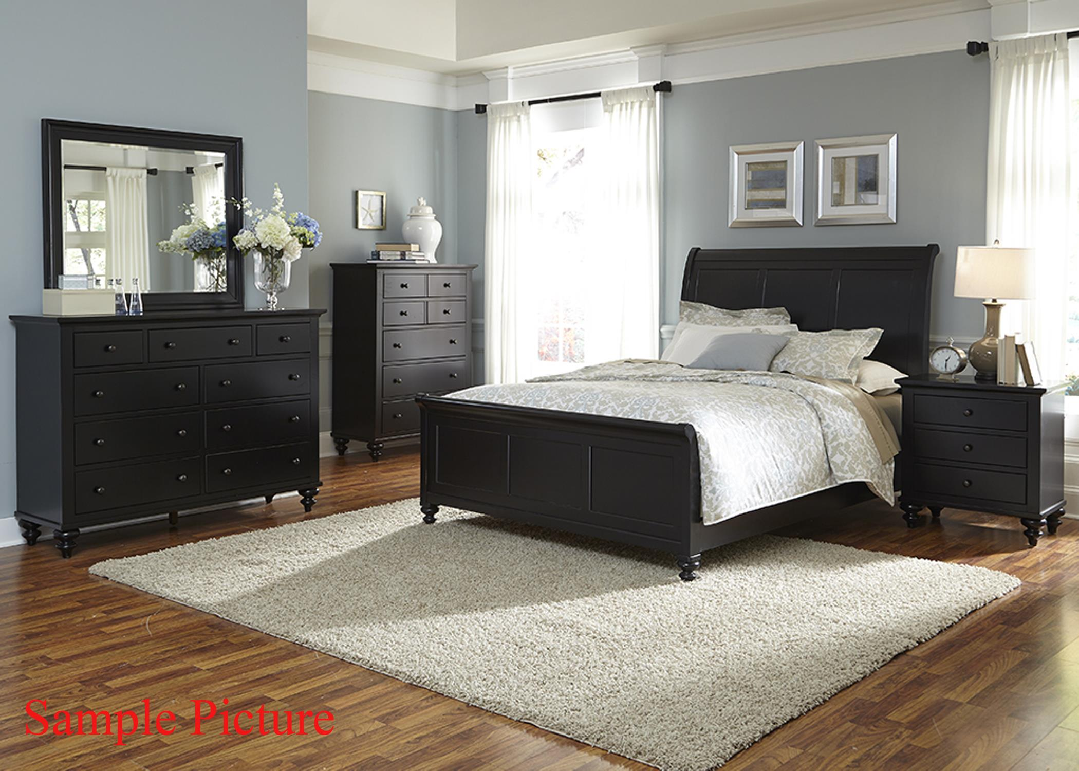 Transitional Queen Sleigh Bed by Liberty Furniture | Wolf and ...