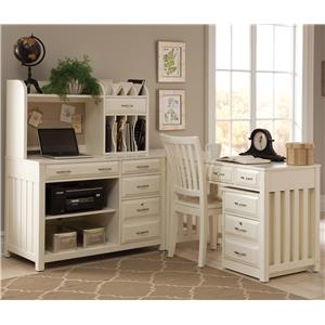 Liberty Furniture Hampton Bay - White L-Shaped Desk