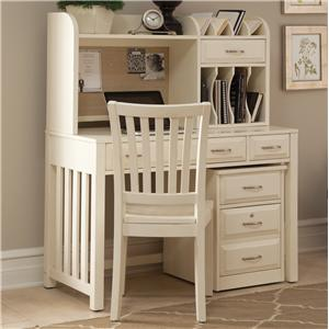 Liberty Furniture Hampton Bay - White Writing Desk and Hutch