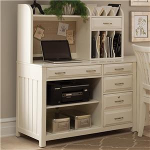 Liberty Furniture Hampton Bay - White Credenza and Hutch