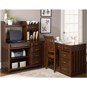 Liberty Furniture Hampton Bay  L-Shaped Desk with File Cabinet