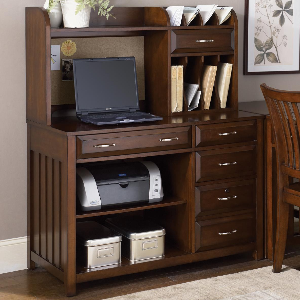 Credenza Desk And Hutch By Liberty Furniture Wolf And