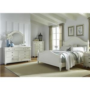 Queen Poster Bedroom Group with Dresser, Mirror and Nightstand