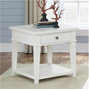 Rustic Casual End Table with One Drawer
