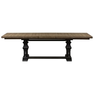 Relaxed Vintage Two-Toned Trestle Table