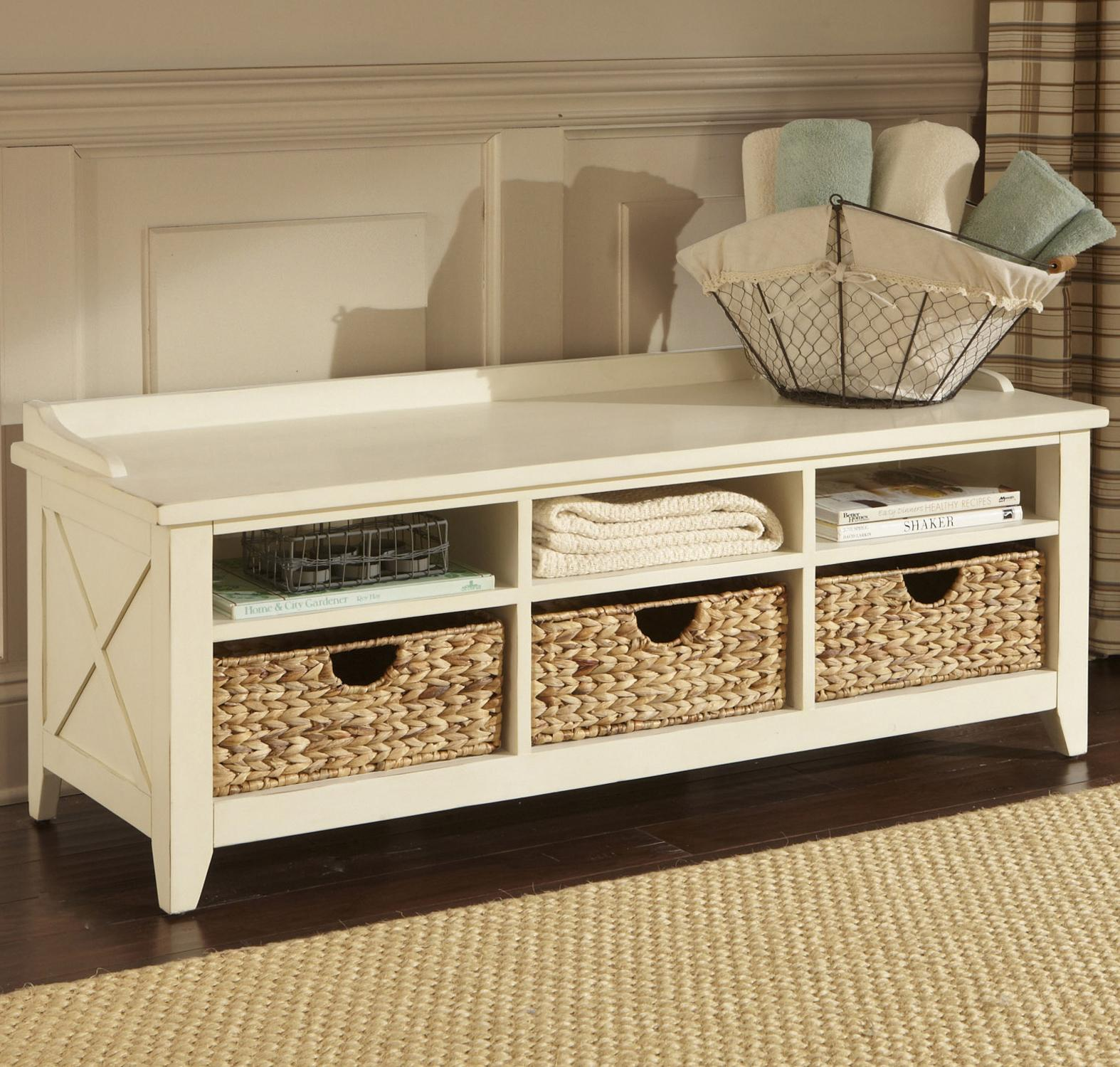 Marvelous Cubby Storage Entryway Bench