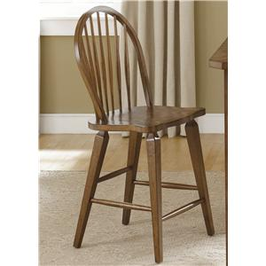 Liberty Furniture Hearthstone Windsor Back Counter Height Chair