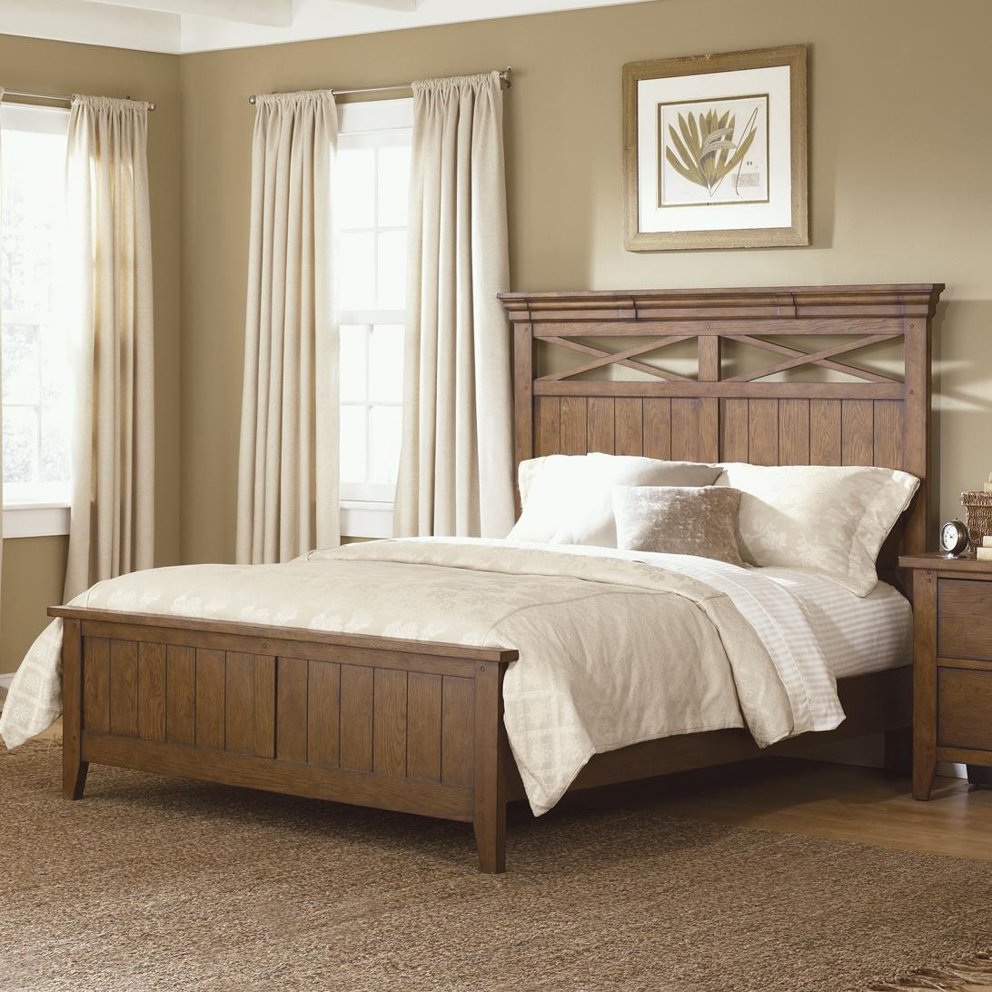 country style king panel bed