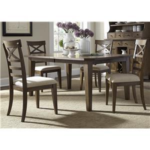 Liberty Furniture Hearthstone 5 Piece Rectangular Table Set