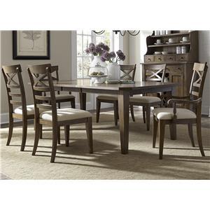 Liberty Furniture Hearthstone Opt 7 Piece Rectangular Table Set