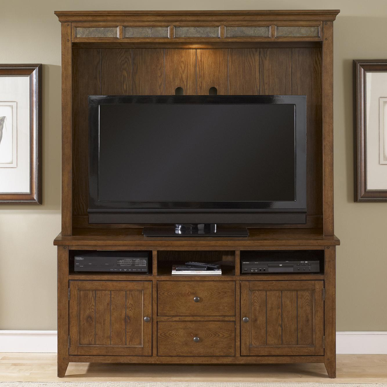 TV Stand And Hutch Entertainment Center