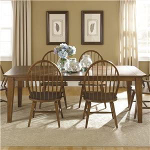 Liberty Furniture Hearthstone Rectangular Leg Table