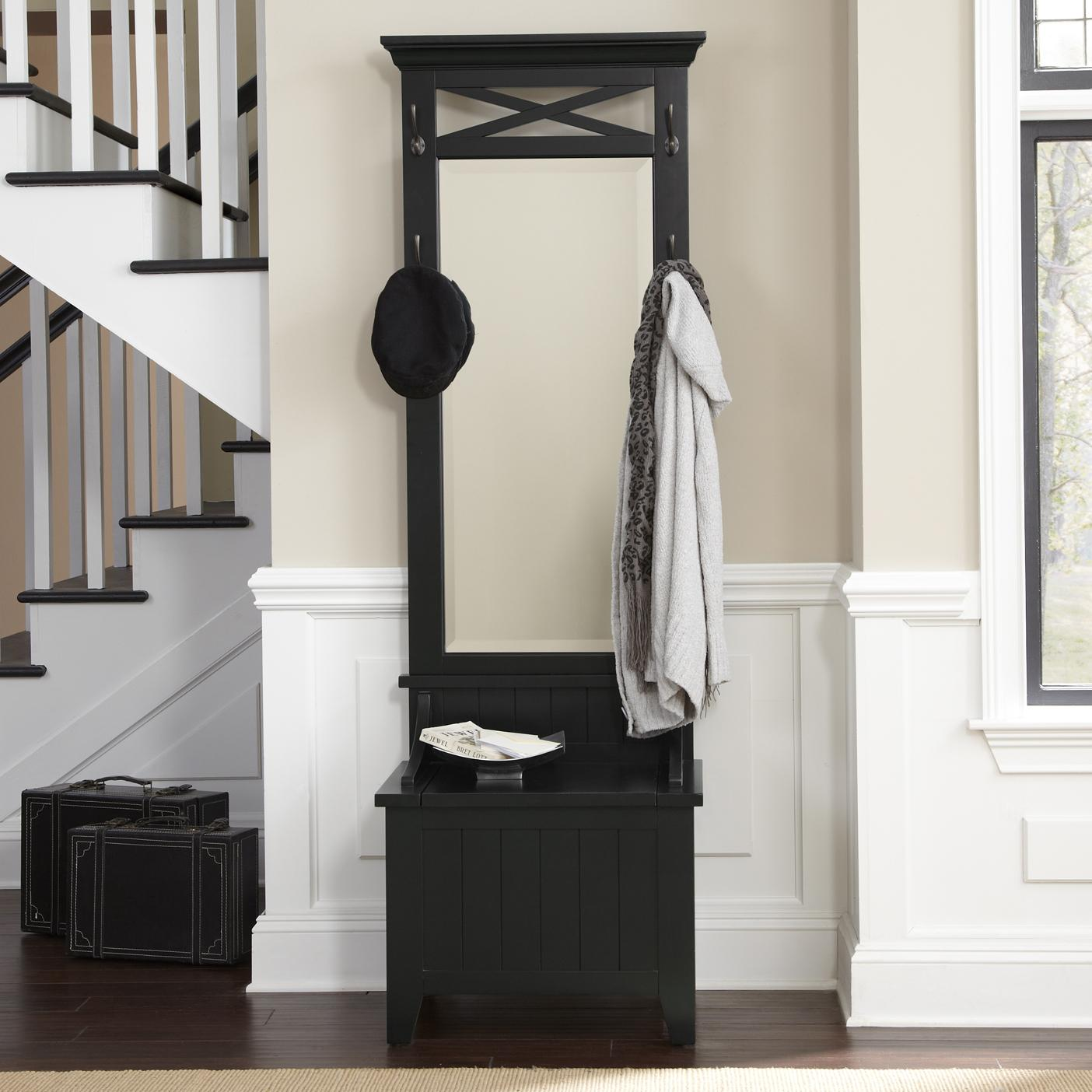 Foyer Mirror Height : Entryway hall tree with mirror and bench by liberty