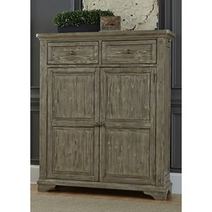 Door Chest with 2 Drawers