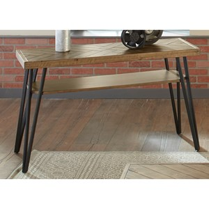 Contemporary Sofa Table With Open Shelf