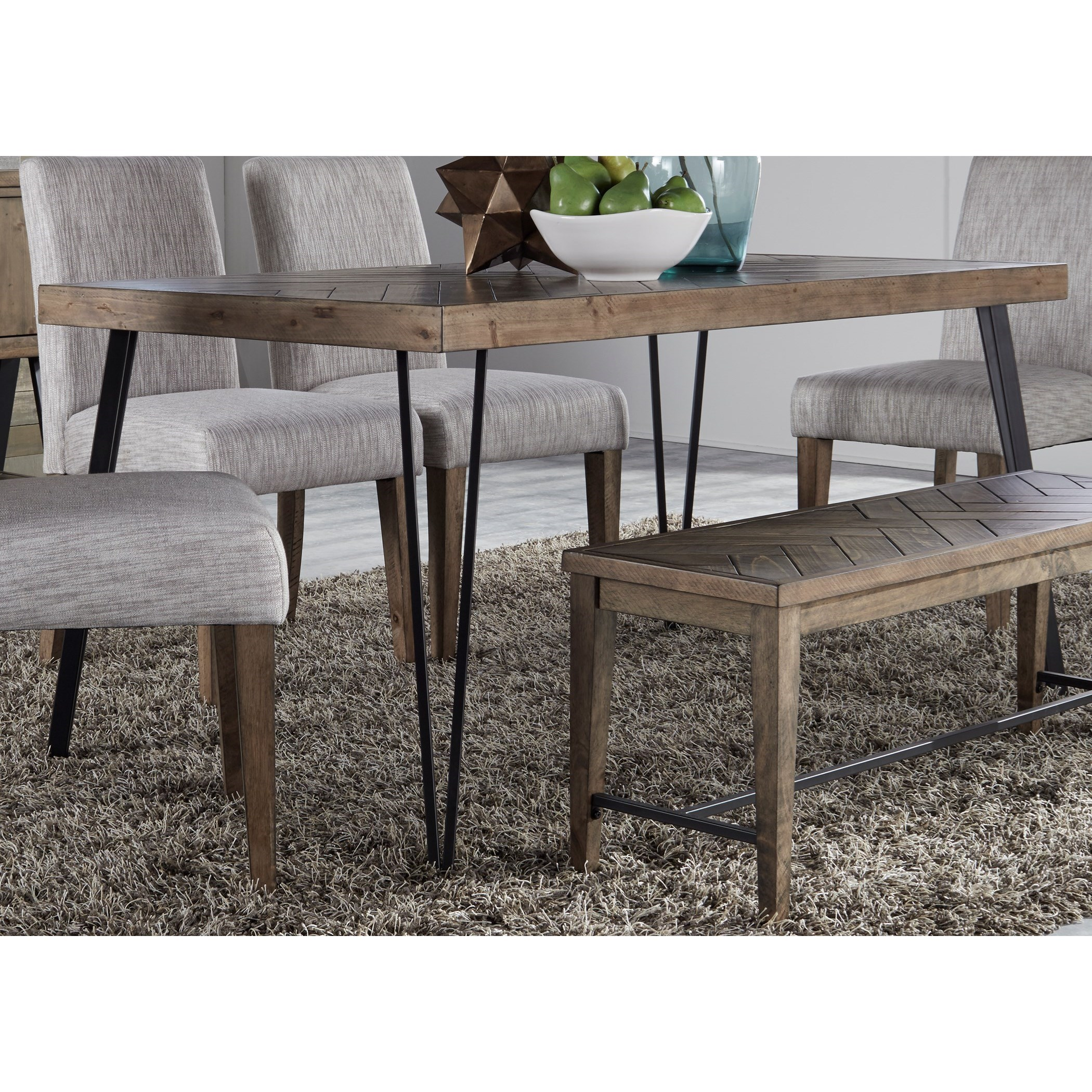 Square Rectangular Modern Dining Table Legs Industrial: Contemporary Rectangular Leg Dining Table With Angled