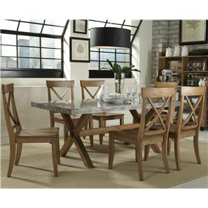Liberty Furniture Keaton 7 Piece Trestle Table Set